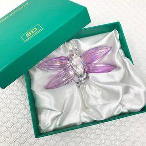 🆕SIMON DESIGNS Pink Crystal Dragonfly NIB